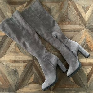 NWOT thigh high suede boots
